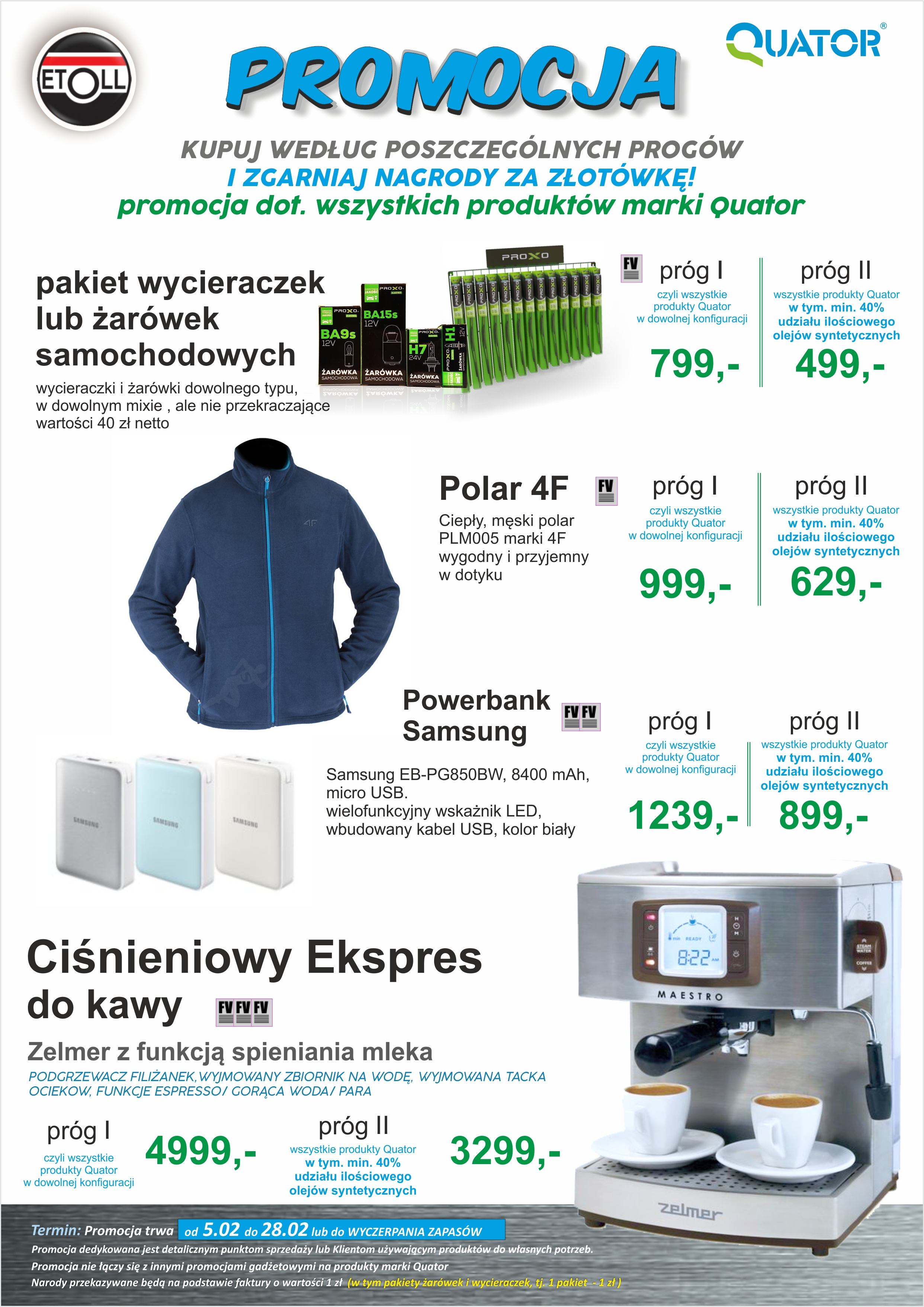 promocja olej quator etoll polary power bank